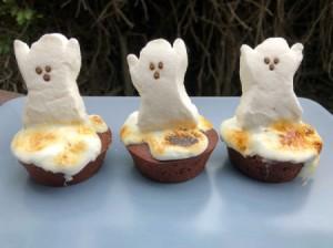 ghost peeps on Brownies