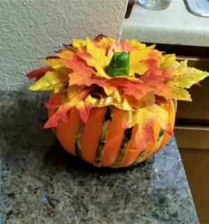 Not Country Bumpkin - Country Pumpkin! - decorated pumpkin