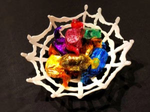 Hot Glue Spiderweb Bowl - spiderweb candy bowl