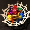 Hot Glue Spiderweb Bowl - spiderweb candy bowl