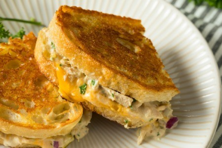 Hot Tuna Sandwich on a plate.