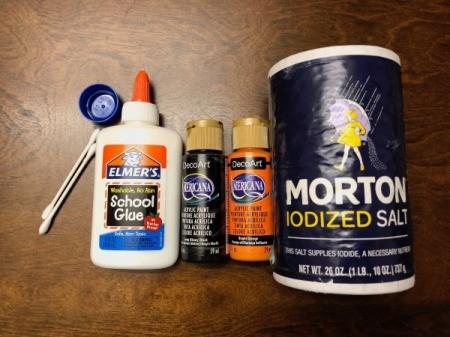 Salt Spider Web Painting - supplies