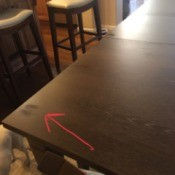 Repairing Damaged Wood Table Finish - shiny spot on matte wood finish