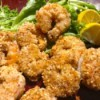 Almond Crusted Shrimp on plate