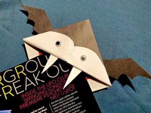 Vampire Corner Bookmark - closeup of finished vampire