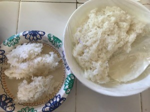 Reheat Rice with Hot Soup