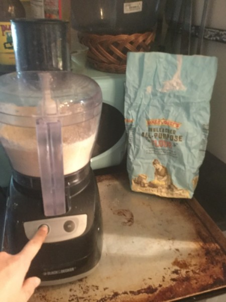 flour in food processor