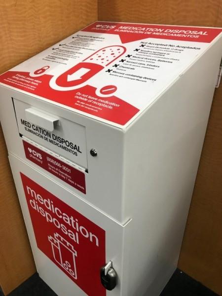 Safe Disposal of Medicine - disposal box at pharmacy