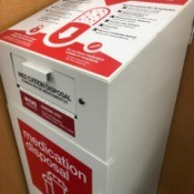 Safe Disposal of Medicine - disposal box at pharmacy