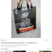 Best Thread for Sewing Recycled Dog Food Bag Totes