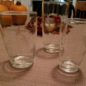 Finding Vintage Drinking Glasses - clear glasses with an etched design