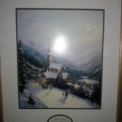Value of Thomas Kinkade Prints - snowy scene