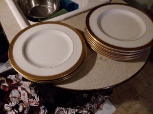 Identifying China - gold rimmed plates