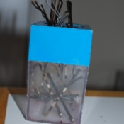 Magnetic Bobby Pin Holder - paperclip holder used for bobby pins