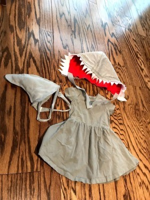 Kid to Toddler Shark Halloween Costume