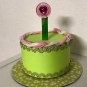 Birthday Cake Gift Box - finished cake shaped gift box