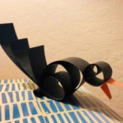 Squawking Crow Paper Craft - finished crow