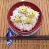 Japanese Sweet Potato Rice in bowl