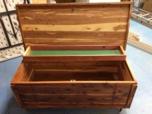 Determining the Age of a Murphy Cedar Chest - open cedar chest