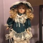Identifying a Porcelain Doll - fancy dress doll