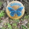 Making a Welcome Stepping Stone - finished stepping stone, painted and sealed