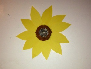 Paper Bowl Sunflower