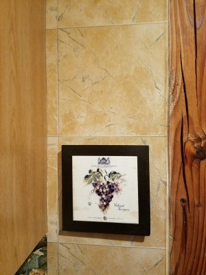 Discontinued Raymond Waites Wallpaper -  marbleized tan wallpaper