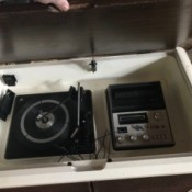 Value of a Brother Turntable with 8-Track Tape Player