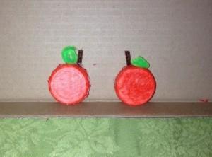 Milk Lid Pumpkin Magnets  - two finished pumpkin magnets
