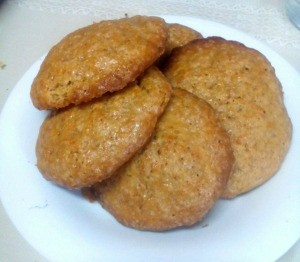 Simple Carrot Cookies on plate