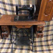 Value of a White Model A (VS I) Sewing Machine - antique sewing machine