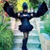Raven Masquerade Costume - raven woman