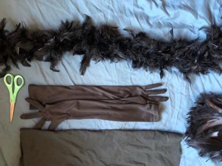 Raven Masquerade Costume - supplies