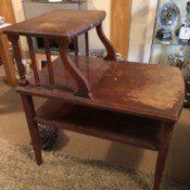 Value of a Mersman Telephone Table - two tier table with third lower shelf