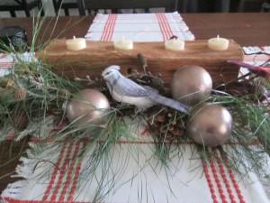Firewood or Broken Tree Branch Tea Light Holder - firewood holder on dining table