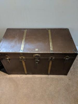 Information on an Eveleigh Trunk  - closed dark brown trunk