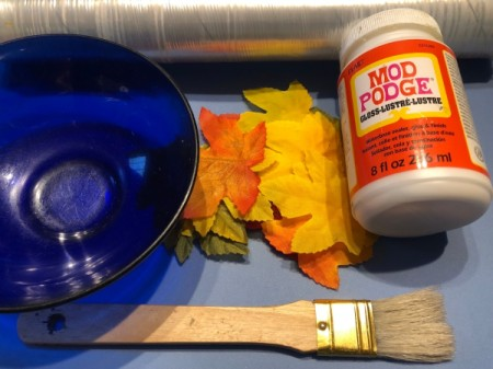 Autumn Leaves Centerpiece - supplies