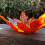 Autumn Leaves Centerpiece - finished leaf bowl
