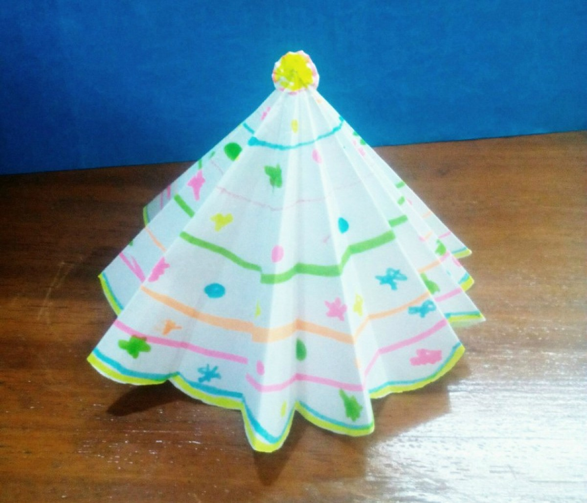 3d Paper Christmas Tree.Making A 3d Paper Christmas Tree Thriftyfun
