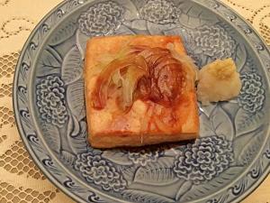 Japanese Glazed Tofu Steak on plate