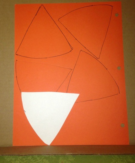Pumpkin Pie Garland - trace pie slices on colored paper