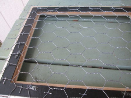 My Framed Jewelry Display Holder - cut chicken wire to size and staple to back of the frame