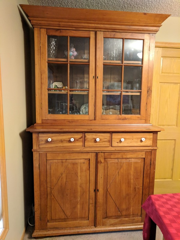 How do I determine the price to use for selling my cherry china cabinet? I  bought it as an antique over 50 years ago. It has old glass with air  bubbles and ... - Value Of Antique Cherry China Cabinet ThriftyFun