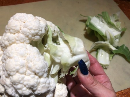 Cauliflower Sheep Centerpiece - peel away the leaves