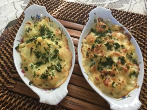 Cauliflower Gratin in serving dish