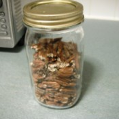 Roasted Pecans in quart jar