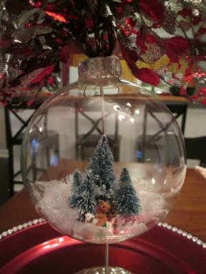 Making A Snow Globe Ornament