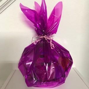 Magazine Bowl Gift Basket - wrapped paper bowl gift basket