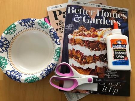 Magazine Bowl Gift Basket - supplies