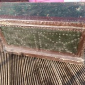 Information on an Antique Trunk - two color trunk with studs over (leather?) sheath